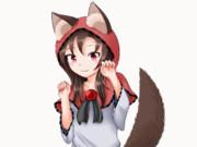 GIFアニメ 影狼ずきん