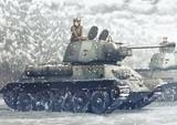 雪の中のT-34