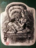 切り絵「不思議の国のアリス」