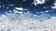 【MMDステージ配布】昼間の雪山 N2【スカイドーム】