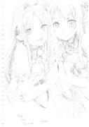 ユウキ&アスナ 模写 シャーペン