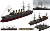 MMD用モブ装甲巡洋艦1900セット