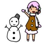 歌書キコちゃん冬の風景