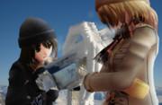 凍りついた展望鏡