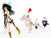 【MMD節分】ラムちゃんっぽい姫鴉Ⅲのお約束事項w(1024 x 768)