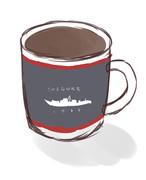 時雨のコーヒーマグ(ラフ案)