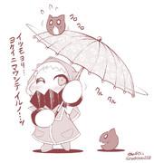 ほっぽちゃんの傘回し。