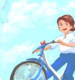 リハかきコミュ2/5のお題:青空+自転車