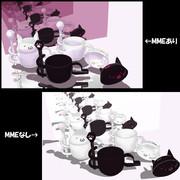 【MMDアクセサリ配布】Zooコップcat_v1.1(マドラー&フタ付き)2015/4/4更新