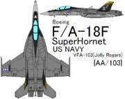 F/A-18F Super Hornet VFA-103 Jolly Rogers