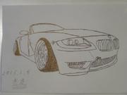 【手書き】BMW Z4書いてみた【手抜き】