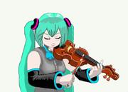 ヴァイオリニスト、ミク。