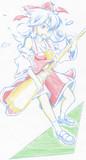 ギターを弾くRIM (ハ ン ド ボ ー ル冒頭より)