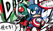 仮面ライダー1号&キャプテンアメリカ チームアップ