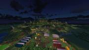 【minecraft】パーティーツリーからのホビット村の眺め