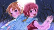 月明かりのユンとヨナ