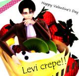 Happy Valentine's Day -Levi crepe-
