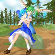 大妖精とチルノ