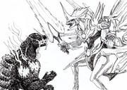 ゴジラvs光龍騎神サジット・アポロドラゴン