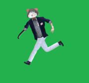 走るALISON兄貴(義手刀版)GIF
