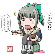 昨日の艦これアニメを見てた夕張さん【2015/02/19】