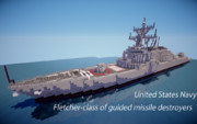【minecraft】フレッチャー級ミサイル駆逐艦【ミサイル駆逐艦】