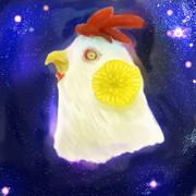 宇宙と菊と鶏