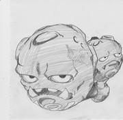 2B鉛筆でマタドガス、描いてみた