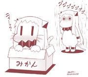 子猫ほっぽとムーミンほっぽ。