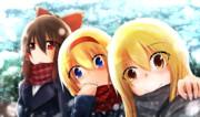 冬の空と女子高生