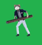 片足を引きずって歩くALISON兄貴(丸太版)GIF