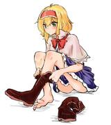 普段ブーツなアリスの