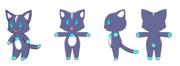 メイズミス猫デザインコンテスト  ブルー