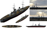 MMD用モブ巡洋戦艦1910セット