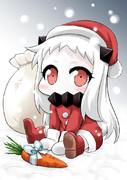 サンタほっぽちゃん描きました♪
