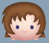 ひぐらし 竜宮レナをツムツムっぽく描いてみた
