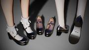 【MMDアクセサリ配布】メリージェーン (靴)