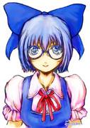 【メガネ】描いてみました。【チルノ】