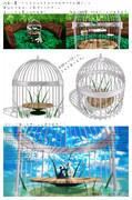 【ステージ/アクセサリ配布】鳥かご風東屋