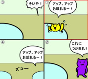 【GIF】移動式アニメーション4コマ