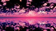 【MMDステージ配布】紫の夕焼け S4【スカイドーム】
