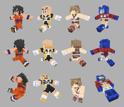 Minecraftスキン Z戦士・艦娘・超ロボット生命体