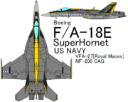 F/A-18E Super Hornet VFA-27 Royal Maces