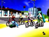 続・ミニスカで自転車は(ry