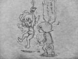 くすぐろうとしている江戸川君