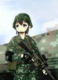 タイ陸軍女の子