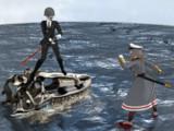 艦娘・戦艦三笠VS深海棲鬼・戦艦幻級(仮称)艤装有り版