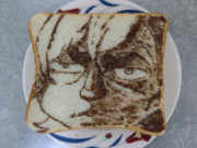 ばらかもんの「なる」を食パンに描いてみた