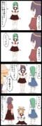 【四コマ】原点回帰!早苗さん!!