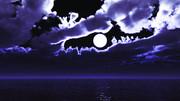 【MMDステージ配布】雲間の月 T1【スカイドーム】